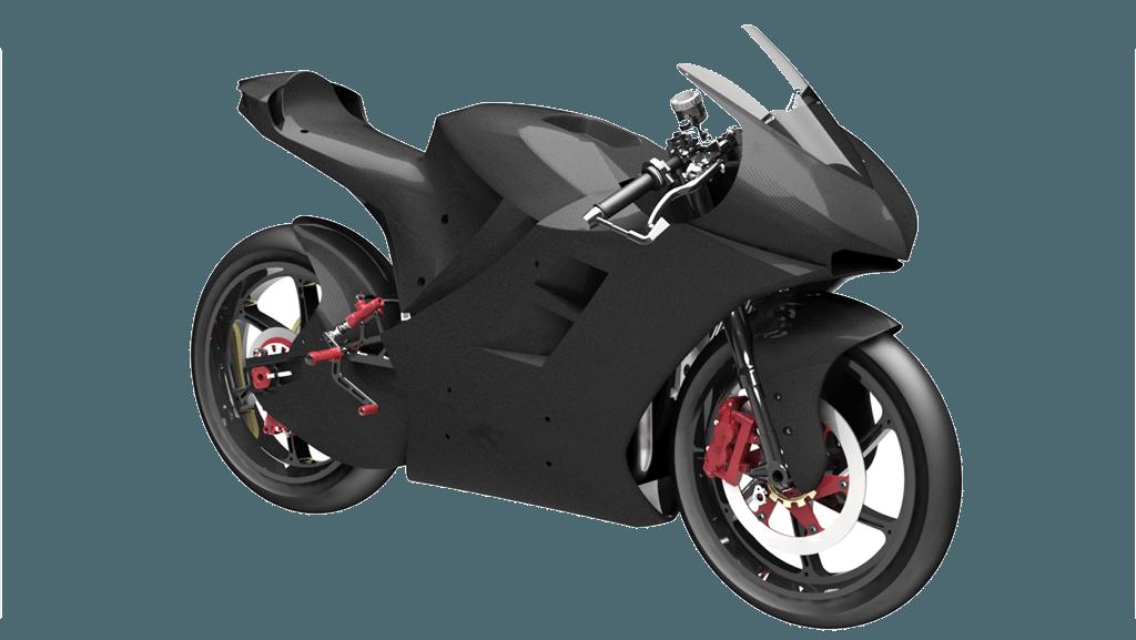 Carbon-Motorradrahmen von ETH Moto Racing